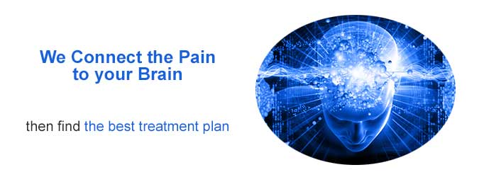 We help connect the pain to your brain.
